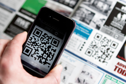 Use your Smartphone to scan QR Codes
